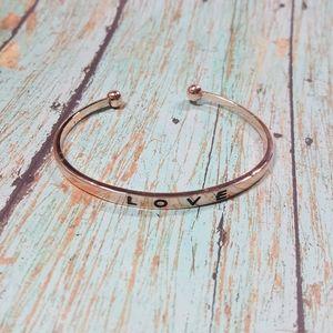 Jewelry - 💎 Rose Gold Tone LOVE Cuff Bracelet